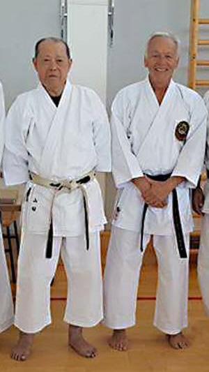 Master Yamada & Denis Casey sensei