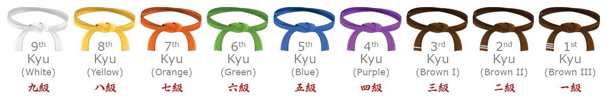 Kyu Grade Belts