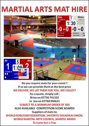 Martial Arts Mat Hire