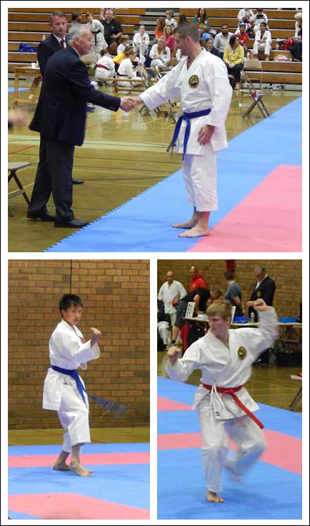 Martial Arts Mats in use