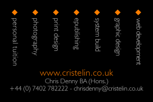 Cristelin Business Card (Rear)